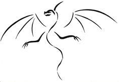 dragon silhouette tattoo - Sök på Google