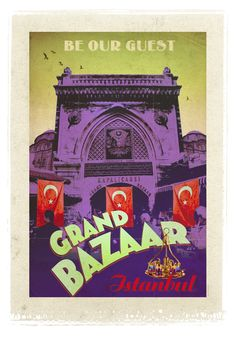"""vintage istanbul posters  """"Preserve. Reserve. Serve ~ The life and times of Istanbul at the heart of historical center""""  www.armadaistanbul.com www.armadaistanbulculture.com"""