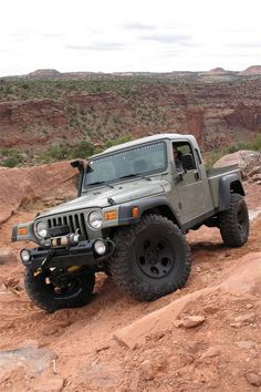 AEV Brute Conversion for the Jeep Wrangler TJ. This Jeep is so cool. It has a stamped steel bed, AEV wheels, BFG tires, & Snorkel Jeep Jk, Aev Jeep, Jeep Brute, Jeep Wrangler, Jeep Pickup, Jeep Garage, Jeep Gear, Jeep Rubicon, 4x4 Trucks
