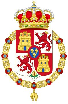 Lesser Royal Coat of Arms of Spain (1700-1868 and 1834-1930)