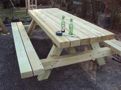 A Super-duty Traditional style Picnic table, basically a replica of the kind they used to put in National Parks. I build'em to last a lifetime.
