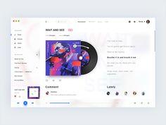 Music Player designed by Romeo M. Pc Music, Music App, Free Music Websites, Apps, Music Website Templates, Musik Player, App Design Inspiration, Ui Web, App Ui Design