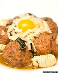 The recipe for spicy duck meatballs with mint cavatelli is courtesy of Harold Dieterle.