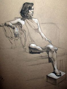 Julie charcoal on toned paper figure drawings and sketches by ef in 2019 ar Human Figure Drawing, Figure Sketching, Figure Drawings, Drawing Poses, Gesture Drawing, Figure Painting, Painting & Drawing, Toned Paper, Anatomy Art