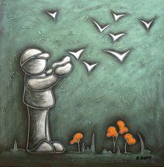 Fly, Birds Duffy, Birds, Artist, Painting, Artists, Painting Art, Bird, Paintings, Painted Canvas
