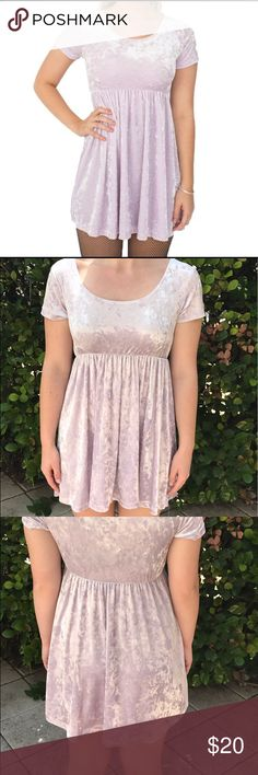Pink velvet American Apparel Babydoll Dress Light pink velvet American Apparel Babydoll Dress. Size: M. Super soft and cute! Made in the USA. 90% polyester, 10% elastane. American Apparel Dresses Mini