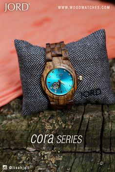 JORD's Cora Series in Zebrawood with a vibrant Turquoise face is the unexpected but highly appreciated accessory staple your wardrobe has been waiting for.