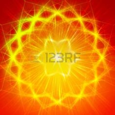 Picture of abstract yellow star with shining light rays like mandala form stock photo, images and stock photography. Image 21997105.