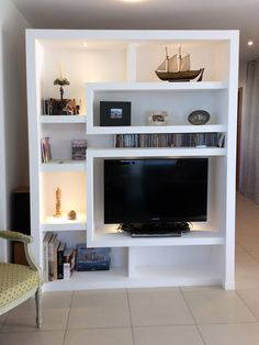 & & & & & Furniture of separation. Divide a large space inside with several parts without building a wall hard Living Room Built Ins, Living Room Partition, Room Partition Designs, Living Room Tv, Tv Wall Design, Ceiling Design, House Design, Bedroom Storage Ideas For Clothes, Tv Unit Furniture
