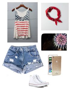 Happy Fourth of July! by lhe02 on Polyvore featuring polyvore, fashion, style, Converse, American Eagle Outfitters and Kate Spade
