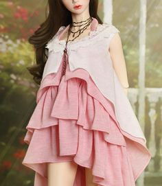 ITEM VIEW : SID - Woman - SID_W Pink Frill Dress Set