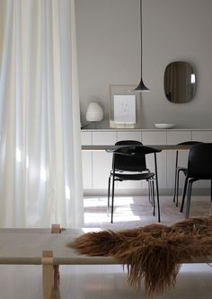 A Merry Mishap: More than a curtain, Ready Made also serves as a flexible room divider
