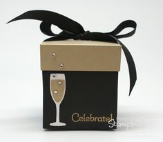 Stampin' Up! Stamping T! -Celebrate Exploding Box