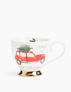 Shop this Mok met 'Driving Home' at Marks & Spencer. Browse more styles at Marks & Spencer BE Christmas Hamper, Christmas Deco, Driving Home For Christmas, Cosy Sofa, Christmas Offers, Monogram Stockings, Flower Subscription, China Mugs, Tumblers