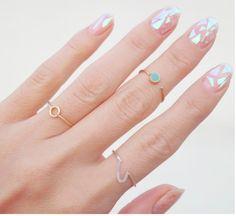 Shatter Iridescent Glass Nail Design