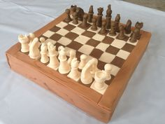Chess board cake... It was actually usable and a game was played on it before it was eaten, lol