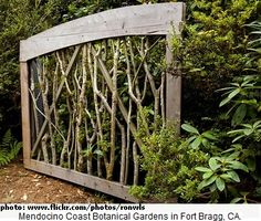 Wooden gate, not forged, in Fort Bragg, CA
