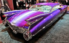 Ultra-mega-Wild - Pimp Mobile....  This outrageous beauty, WILD CAD, is not your garden variety street rod. 82-year-old legend Gene Winfield helped design the fully custom eye-popper. It's reported that the paint job alone was almost $200,000! www.ThrottleDM.com