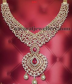 Jewellery Designs: Enchanting Diamond Set by JCS