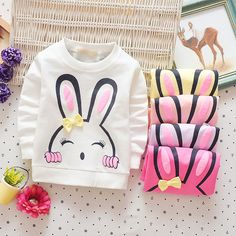 Baby Toddler Kids Girls Cotton Autumn Spring Tshirts Long Sleeve Winter Bottoming Tops Children Clothes - Kid Shop Global - Kids & Baby Shop Online - baby & kids clothing, toys for baby & kid Spring T Shirts, Love Store, Baby Shop Online, Winter Kids, Happy Baby, Stylish Kids, Girls Sweaters, Fashion Kids, Children Clothes