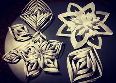 Kwiatki i gwiazdki z papieru...
