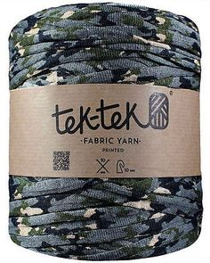 Tek-Tek Super Chunky Fabric T-Shirt Yarn - Extreme Knitting Crochet - Camouflage FREE UK SHIPPING