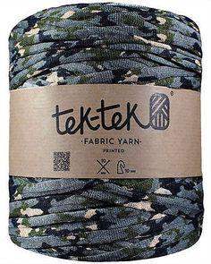 Tek-Tek Super Chunky Fabric T-Shirt Yarn - Extreme Knitting Crochet - Camouflage FREE UK SHIPPING