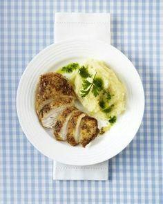 Hähnchenfilet mit Selleriepüree und Petersilien-Öl (Trennkost, Eiweiß-Gericht)