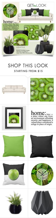 """""""Green Personality - Home Decor Ideas"""" by colormegirly ❤ liked on Polyvore featuring interior, interiors, interior design, home, home decor, interior decorating, Jonathan Adler, WALL, Dot & Bo and Menu"""