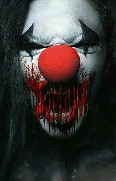 ☆ Bad Girl ゝ。Photographer Stefan Gesell ☆ Gruseliger Clown, Clown Horror, Arte Horror, Horror Art, Creepy Circus, Halloween Circus, Creepy Clown, Scary Mask, Baphomet