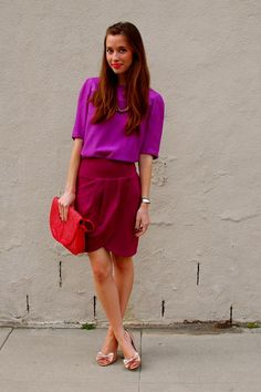 I have always loved colour blocking. I don't believe it is a trend... just a matter of making beautiful mixtures of colour!