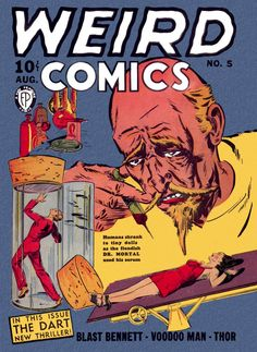 Comic Book Cover For Weird Comics #5