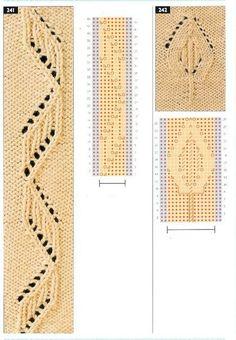 "Photo from album ""Узоры спицами on Yandex. Knitting Charts, Loom Knitting, Knitting Stitches, Knitting Designs, Knitting Needles, Baby Knitting, Crochet Stitches Patterns, Stitch Patterns, Finger Weaving"