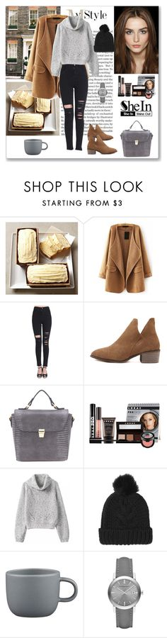 """""""Shein black ripped slim pants"""" by ludmyla-stoyan ❤ liked on Polyvore featuring LORAC, Topshop, CB2, Burberry, pants, ripped and shein"""