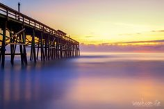 Sunrise at Fernandina Beach Pier Fernandina Pier, Florida, USA