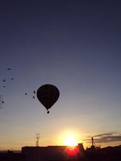 Por-do-sol+balão