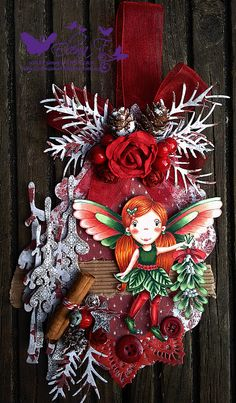 copic no lines Paper nest dolls Christmas angel Avery Guest tag
