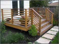 ideas about backyard deck designs on unusual patio backyard deck design ideas ideas about wood deck designs on astonishing patio design ideas 7 home outdoor deck ideas pictures Horizontal Deck Railing, Wood Deck Railing, Deck Railing Design, Deck Stairs, Deck Railing Ideas Diy, Wood Patio, Porch Ideas, Decking Handrail, Deck To Patio Ideas