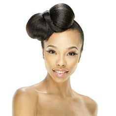 Model Model Equal Synthetic Bun Top Hanna