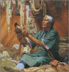 Purchase Howard Terpning - New Doll for My Granddaughter at Gallery One