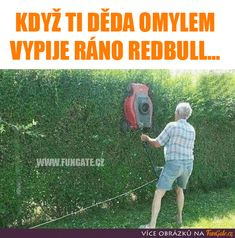 Když ti děda omylem vypije ráno Red Bull... Funny Memes, Jokes, Funny People, Red Bull, Haha, Geek Stuff, Challenges, Wattpad, Pictures