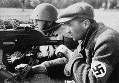 The Sudeten Germans During the fights in the Sudetenland, perhaps Sept. The man is wearing a captured Czechoslovak helmet type Germany Ww2, Pictures Of People, World War Ii, Wwii, The Man, Air Force, About Me Blog, Army, Military