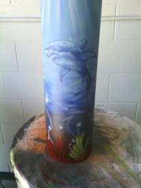Airbrushed scuba tank by Trendsetters Custom Airbrushing  269-317-3100