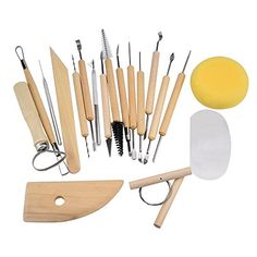 #fashion The 19 pieces #pottery tool set is an essential collection of double sided tools that you need while creating your art pieces. Package includes 19 #piece...