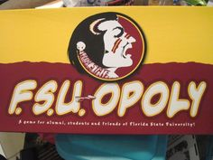 MONOPOLY F.S.U. OPOLY  (FLORIDA STATE UNIVERSITY)  LIKE NEW IN BOX #LatefortheSky