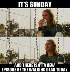 Ha..have to say I feel the same way as James Franco there when a season of TWD ends. Pineapple Express, great movie.
