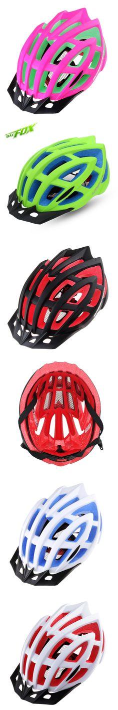 BATFOX Brand Bicycle Helmet W/ Insect Net EPS PC Cycling Helmet 5 Colors Mtb Road Bike Helmet Bicycle Accessories F618