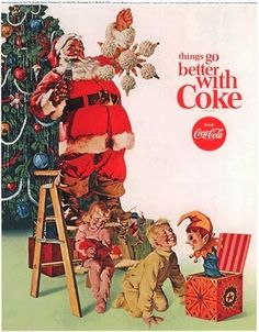 A Touch of Southern Grace : The Coca-Cola Santa Coca Cola Christmas, Christmas Ad, Christmas Scenes, Christmas Pictures, Vintage Christmas, Xmas, Christmas Poster, Coca Cola Poster, Coca Cola Ad