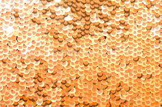Stretch Sequins (Orange/Gold)