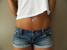 jewels, piercing, surf, summer, belly, hipster, swag, tanned, belly button, shorts